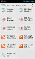 Screenshot of Cricket News and Headlines