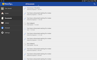 Screenshot of DocuSign - Sign & Send Docs