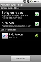 Screenshot of Flickr Sync