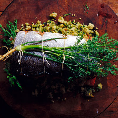 Herb-Stuffed Baked Salmon