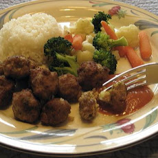 Green Curry Chicken Meatballs