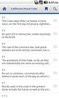 Screenshot of California Penal Code