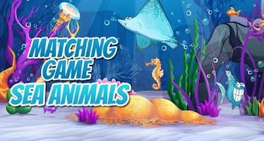 Screenshot of Kids Memory Game - Sea Animals