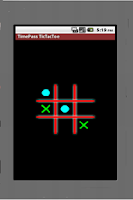 Screenshot of TimePass Bluetooth TicTacToe