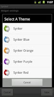 Screenshot of Synker - The Sync Widget
