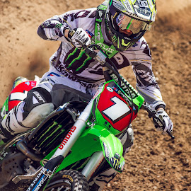 Supercross by Josh Rud - Sports & Fitness Motorsports ( motorcycle racing, off road racing, motocross, racing, las vegas supercross, off road, motorcycle, dirt bike, ryan villopoto, supercross, kawasaki, villopoto )