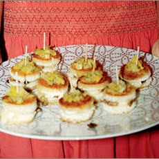 Petite Camembert Sandwiches with Leeks and Cremini Recipe