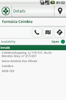 Screenshot of Pharmacies Portugal
