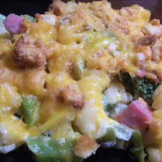 Cheesy Ham & Broccoli Casserole