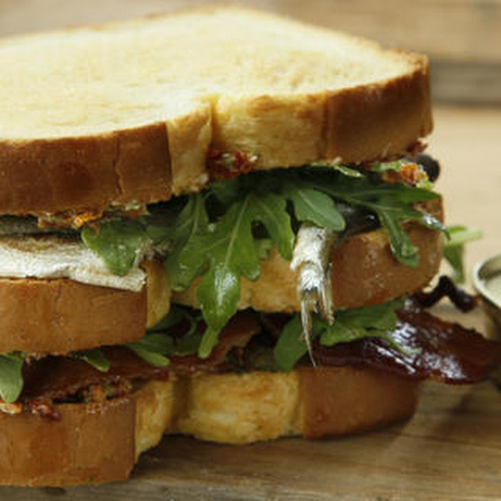 Sardine, Sun-Dried Tomato, and Bacon Club Sandwich Recipe | Yummly