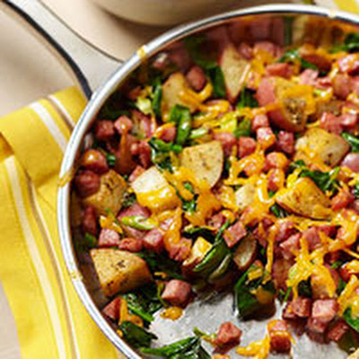 Skillet Hash With Spinach