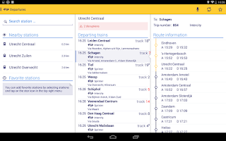 Screenshot of NS Reisplanner Xtra
