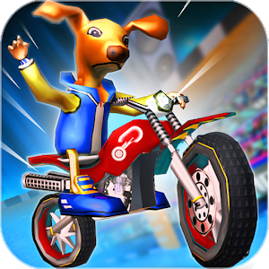 MotoCross Cartoon Stunt Rally