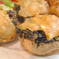 Olive Oyl's Treat for Popeye (Spinach stuffed Mushrooms)