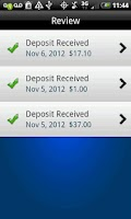 Screenshot of Mobile Deposit