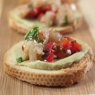 Avocado Shrimp Bruschetta
