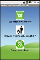 Screenshot of Carbon3R-Sustainable Lifestyle