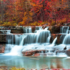 by Tufail Syed - Landscapes Forests ( fall colors, autumn, waterfall, cascades, scenic )