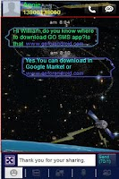 Screenshot of GO SMS Space & Satellite Theme