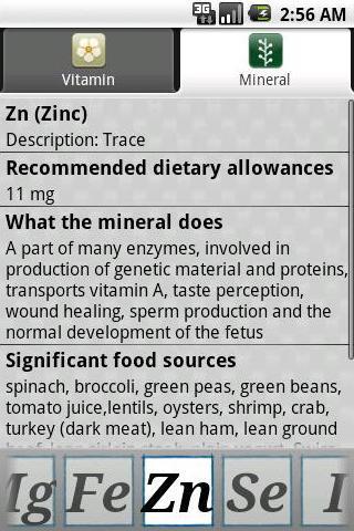 【免費健康App】Vitamins Minerals-APP點子
