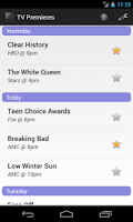 Screenshot of TV Premieres