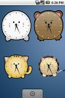 Screenshot of Cute Tiger Clock Widget 2x2