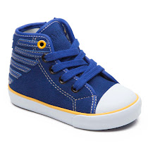 Armani Junior Zip High Top TRAINER