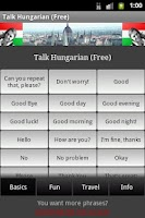 Screenshot of Talk Hungarian (Free)