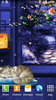 Screenshot of Sleeping Cat Live Wallpaper
