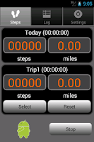 Screenshot of Walkroid - simple pedometer