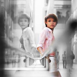 mirror  by En Miezter - People Portraits of Women