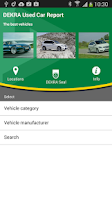 Screenshot of DEKRA Used Car Report