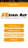 Screenshot of Action Air - VIN Barcode Scan