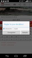 Screenshot of Français Calendrier 2015
