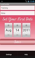 Screenshot of The Love Counter Widget