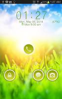 Screenshot of Green Nature Go Locker Theme