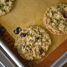 Oatmeal Cookies with Dried Cranberries and Pistachios