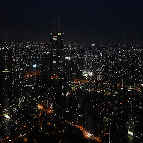 Tokyo by night by Brut Carniollus - City,  Street & Park  Vistas ( urban landscapes, night, nightscape, city at night, street at night, park at night, nightlife, night life, nighttime in the city,  )