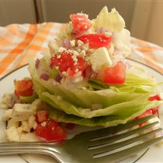 Wedge Salad with Elegant Blue Cheese Dressing