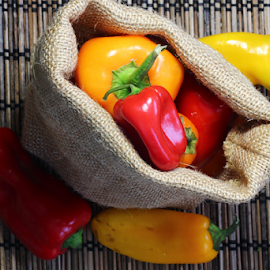 Colors by Dipali S - Food & Drink Fruits & Vegetables ( peppers, red, food, yellow, vegetable )