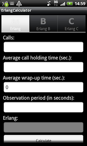 Erlang Calculator