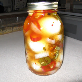 The BEST Spicy Pickled EGGS!