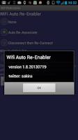 Screenshot of WiFi Auto ReEnabler