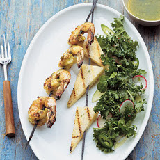 Cilantro-Lime Shrimp Kebabs with Jicama