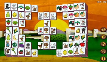 Screenshot of Barnyard Mahjong HD Free