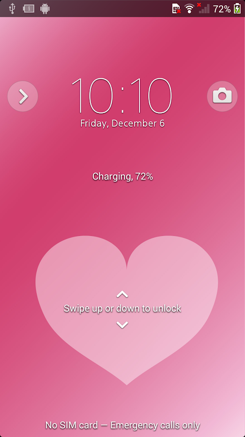 XPERIA™ Pink Hearts Theme Screenshot