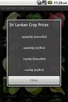Screenshot of Sri Lanka Crop Prices