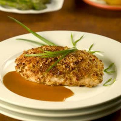 Pan-fried Bourbon Pecan Chicken