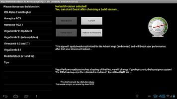 Screenshot of Vega PerformanceBoost 0.2.3