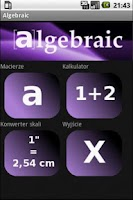 Screenshot of Algebraic